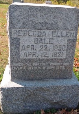 BALE, REBECCA ELLEN - Green County, Kentucky | REBECCA ELLEN BALE - Kentucky Gravestone Photos