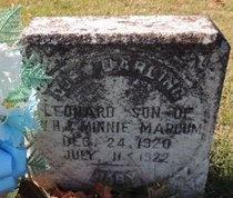 MARCUM, LEONARD - Green County, Kentucky | LEONARD MARCUM - Kentucky Gravestone Photos