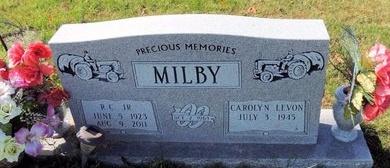 JEWELL MILBY, CAROLYN LEVON - Green County, Kentucky | CAROLYN LEVON JEWELL MILBY - Kentucky Gravestone Photos