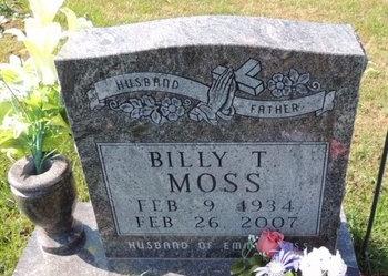 MOSS, BILLY T - Green County, Kentucky | BILLY T MOSS - Kentucky Gravestone Photos