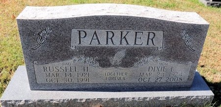 PARKER, DIXIE - Green County, Kentucky   DIXIE PARKER - Kentucky Gravestone Photos