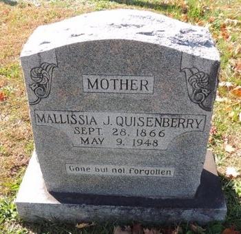 QUISENBERRY, MALLISSIA J - Green County, Kentucky   MALLISSIA J QUISENBERRY - Kentucky Gravestone Photos