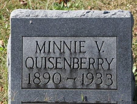 QUISENBERRY, MINNIE VICTORIA - Green County, Kentucky | MINNIE VICTORIA QUISENBERRY - Kentucky Gravestone Photos