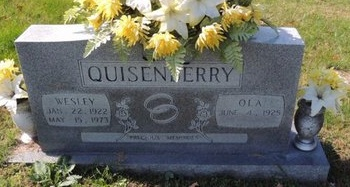 QUISENBERRY, WESLEY - Green County, Kentucky | WESLEY QUISENBERRY - Kentucky Gravestone Photos