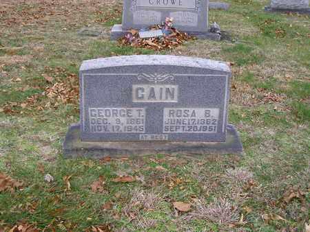 CAIN, GEORGE T - Hancock County, Kentucky   GEORGE T CAIN - Kentucky Gravestone Photos
