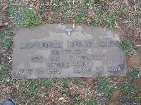 CAIN (VETERAN WWI), LAWRENCE HENRY - Hancock County, Kentucky | LAWRENCE HENRY CAIN (VETERAN WWI) - Kentucky Gravestone Photos