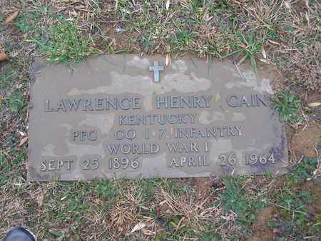 CAIN (VETERAN WWI), LAWRENCE HENRY - Hancock County, Kentucky | LAWRENCE HENRY CAIN (VETERAN WWI) - Kentucky Gravestone Photos
