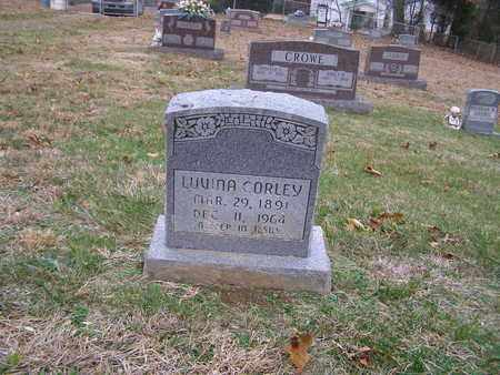 CORLEY, LUVINA - Hancock County, Kentucky | LUVINA CORLEY - Kentucky Gravestone Photos