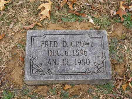 CROWE, FRED D - Hancock County, Kentucky | FRED D CROWE - Kentucky Gravestone Photos