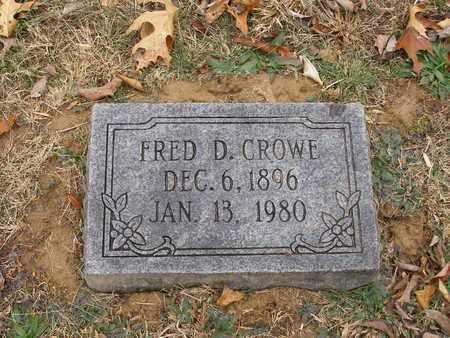 CROWE, FRED D - Hancock County, Kentucky | FRED D CROWE - Kentucky Gravestone Photos