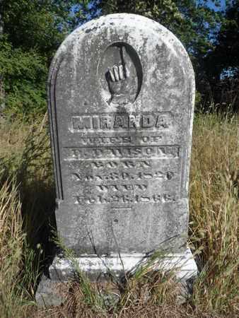 DAVISON, MIRANDA - Hancock County, Kentucky   MIRANDA DAVISON - Kentucky Gravestone Photos