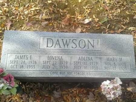 DAWSON, ADLINA - Hancock County, Kentucky   ADLINA DAWSON - Kentucky Gravestone Photos
