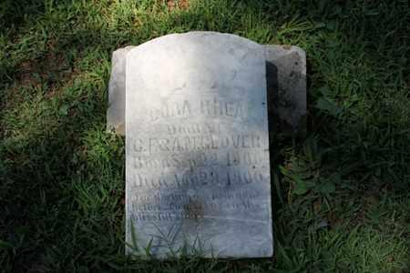 GLOVER, CORA RHEA - Hancock County, Kentucky | CORA RHEA GLOVER - Kentucky Gravestone Photos