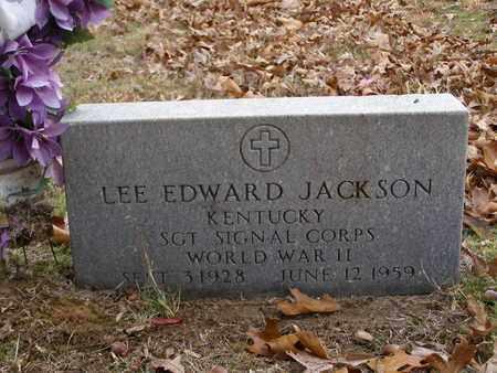 JACKSON (VETERAN WWII), LEE EDWARD - Hancock County, Kentucky | LEE EDWARD JACKSON (VETERAN WWII) - Kentucky Gravestone Photos