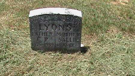LYONS, SALLIE - Hancock County, Kentucky | SALLIE LYONS - Kentucky Gravestone Photos