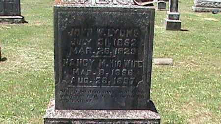 LYONS, NANCY M - Hancock County, Kentucky   NANCY M LYONS - Kentucky Gravestone Photos