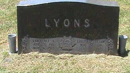 LYONS, LAWRENCE A - Hancock County, Kentucky | LAWRENCE A LYONS - Kentucky Gravestone Photos