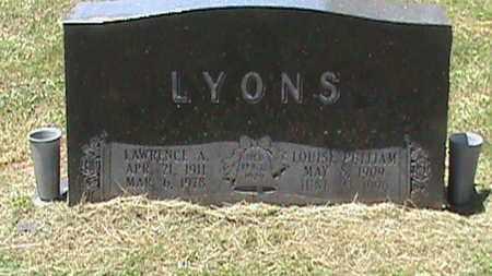 PULLIAM LYONS, LOUISE - Hancock County, Kentucky | LOUISE PULLIAM LYONS - Kentucky Gravestone Photos