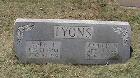 LYONS, ARTHUR D - Hancock County, Kentucky   ARTHUR D LYONS - Kentucky Gravestone Photos