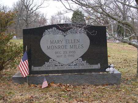 MONROE MILES, MARY ELLEN - Hancock County, Kentucky   MARY ELLEN MONROE MILES - Kentucky Gravestone Photos