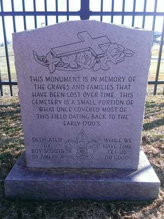 MONUMENT, DEDICATED - Hancock County, Kentucky | DEDICATED MONUMENT - Kentucky Gravestone Photos