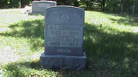 MORRISON, SARAH ELIZABETH - Hancock County, Kentucky | SARAH ELIZABETH MORRISON - Kentucky Gravestone Photos