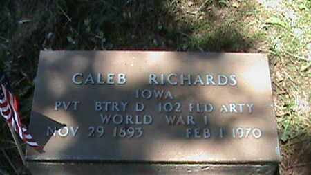 RICHARDS [VETERAN  WW1], CALEB - Hancock County, Kentucky | CALEB RICHARDS [VETERAN  WW1] - Kentucky Gravestone Photos