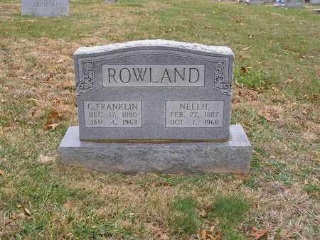 ROWLAND, G FRANKLIN - Hancock County, Kentucky | G FRANKLIN ROWLAND - Kentucky Gravestone Photos