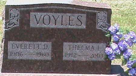VOYLES, EVERETT D - Hancock County, Kentucky | EVERETT D VOYLES - Kentucky Gravestone Photos
