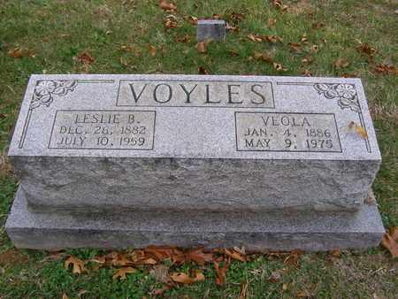 VOYLES, LESLIE B - Hancock County, Kentucky | LESLIE B VOYLES - Kentucky Gravestone Photos