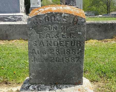 SANDEFUR, GEORGE H. - Henderson County, Kentucky | GEORGE H. SANDEFUR - Kentucky Gravestone Photos