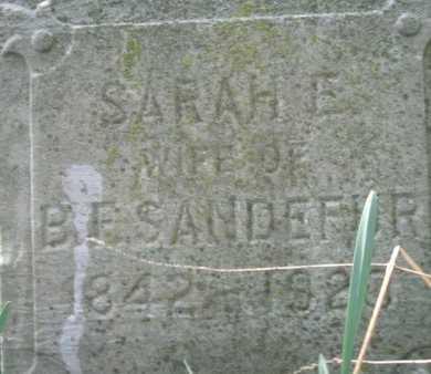 SANDEFUR, SARAH E - Henderson County, Kentucky | SARAH E SANDEFUR - Kentucky Gravestone Photos