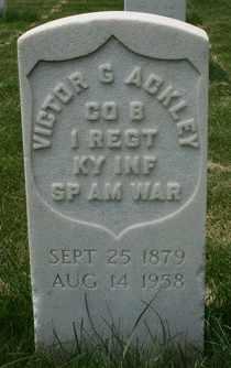 ACKLEY (VETERAN SAW), VICTOR G - Jefferson County, Kentucky   VICTOR G ACKLEY (VETERAN SAW) - Kentucky Gravestone Photos