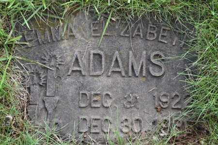 ADAMS, EMMA ELIZABETH - Jefferson County, Kentucky | EMMA ELIZABETH ADAMS - Kentucky Gravestone Photos