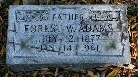 ADAMS, FOREST W. - Jefferson County, Kentucky | FOREST W. ADAMS - Kentucky Gravestone Photos
