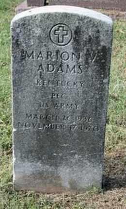 ADAMS, MARION V. - Jefferson County, Kentucky | MARION V. ADAMS - Kentucky Gravestone Photos