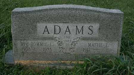 ADAMS, TOMMIE L. - Jefferson County, Kentucky | TOMMIE L. ADAMS - Kentucky Gravestone Photos