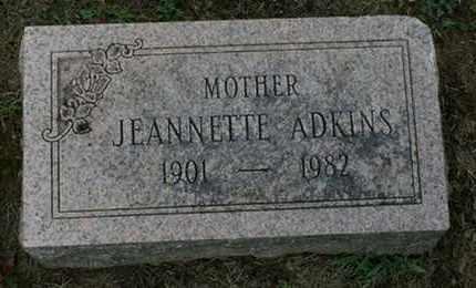 ADKINS, JEANNETTE - Jefferson County, Kentucky   JEANNETTE ADKINS - Kentucky Gravestone Photos