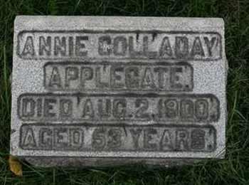 APPLEGATE, ANNIE COLLADAY - Jefferson County, Kentucky   ANNIE COLLADAY APPLEGATE - Kentucky Gravestone Photos