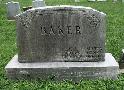 B AKER, LILLIE ADAMS - Jefferson County, Kentucky | LILLIE ADAMS B AKER - Kentucky Gravestone Photos
