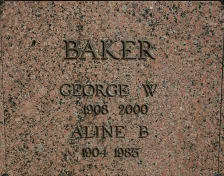 BAKER, GEORGE W. - Jefferson County, Kentucky | GEORGE W. BAKER - Kentucky Gravestone Photos