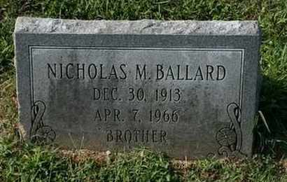 BALLARD, NICHOLAS M. - Jefferson County, Kentucky   NICHOLAS M. BALLARD - Kentucky Gravestone Photos