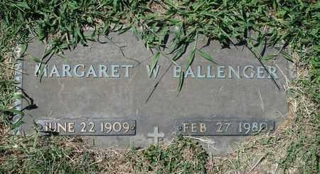 BALLENGER, MARGARET W. - Jefferson County, Kentucky | MARGARET W. BALLENGER - Kentucky Gravestone Photos