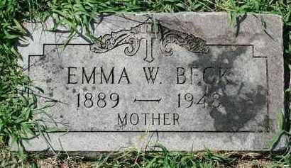 BECK, EMMA - Jefferson County, Kentucky | EMMA BECK - Kentucky Gravestone Photos