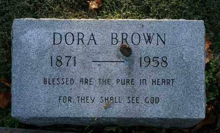 BROWN, DORA - Jefferson County, Kentucky | DORA BROWN - Kentucky Gravestone Photos