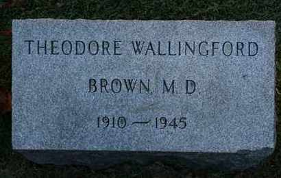 BROWN, THEODORE WALLINGFORD - Jefferson County, Kentucky | THEODORE WALLINGFORD BROWN - Kentucky Gravestone Photos