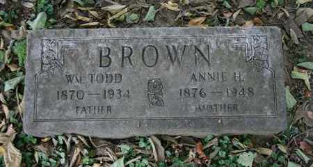 BROWN, WILLIAM TODD - Jefferson County, Kentucky | WILLIAM TODD BROWN - Kentucky Gravestone Photos