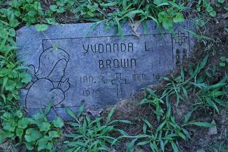 BROWN, YVONNDA L. - Jefferson County, Kentucky   YVONNDA L. BROWN - Kentucky Gravestone Photos