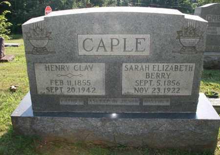 CAPLE, SARAH - Jefferson County, Kentucky | SARAH CAPLE - Kentucky Gravestone Photos