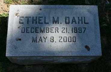 DAHL, ETHEL M. - Jefferson County, Kentucky | ETHEL M. DAHL - Kentucky Gravestone Photos